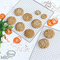 Вегетарианские котлеты в дегидраторе Rawmid Dream Modern DDM-11