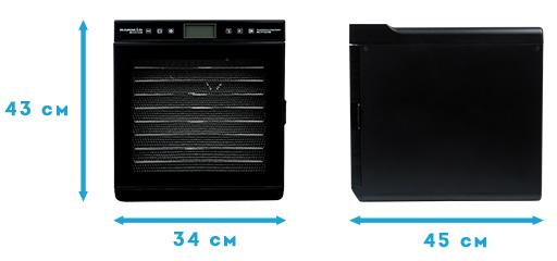 Размеры дегидратора RAWMID Modern RMD-10