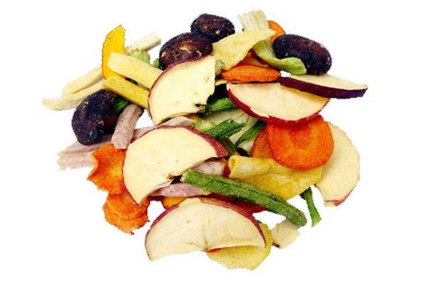Овощи и фрукты в сушилке